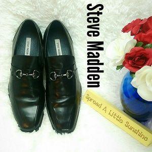 Steve Madden, Stylls, slip on leather loafer, Sz13